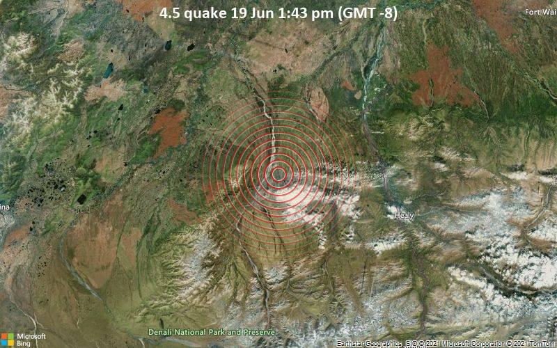 4.5 quake 19 Jun 1:43 pm (GMT -8)