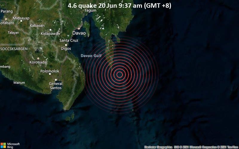 4.6 quake 20 Jun 9:37 am (GMT +8)