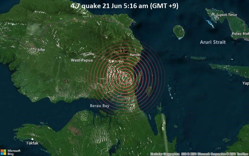 4.7 quake 21 Jun 5:16 am (GMT +9)