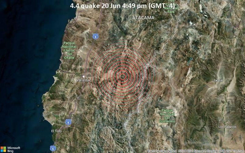 4.4 quake 20 Jun 4:49 pm (GMT -4)