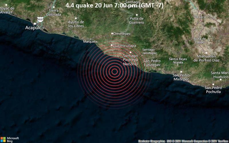 4.4 quake 20 Jun 7:00 pm (GMT -7)