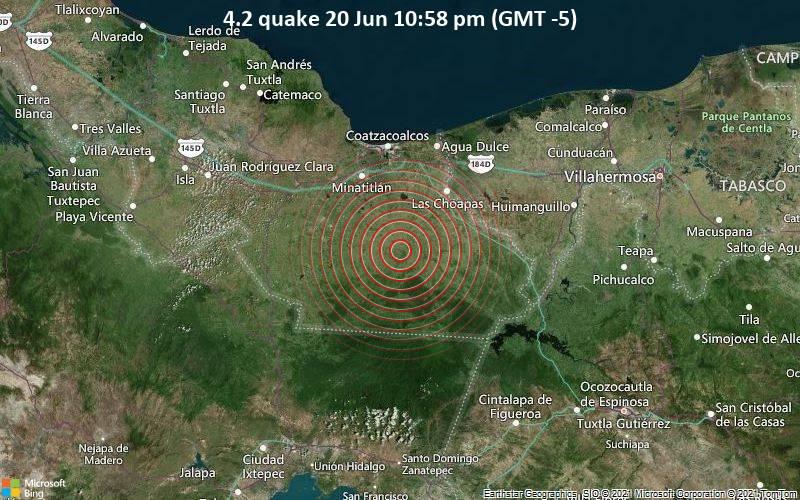 4.2 quake 20 Jun 10:58 pm (GMT -5)