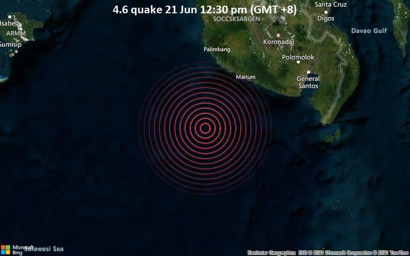 4.6 quake 21 Jun 12:30 pm (GMT +8)