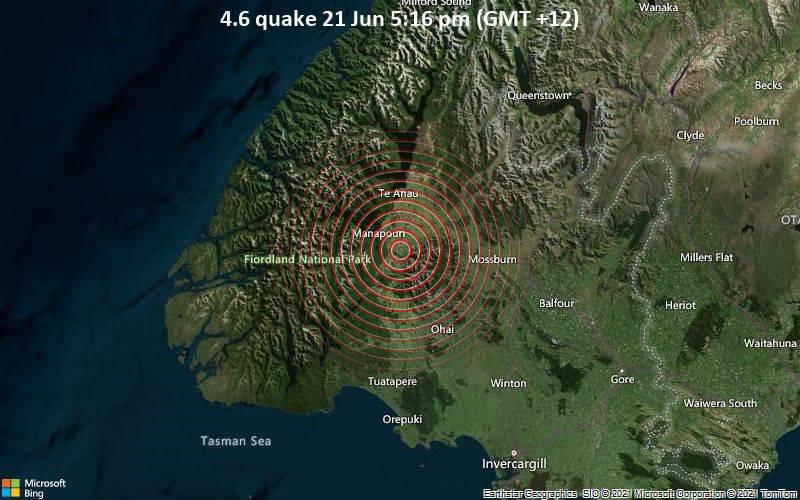 4.6 quake 21 Jun 5:16 pm (GMT +12)