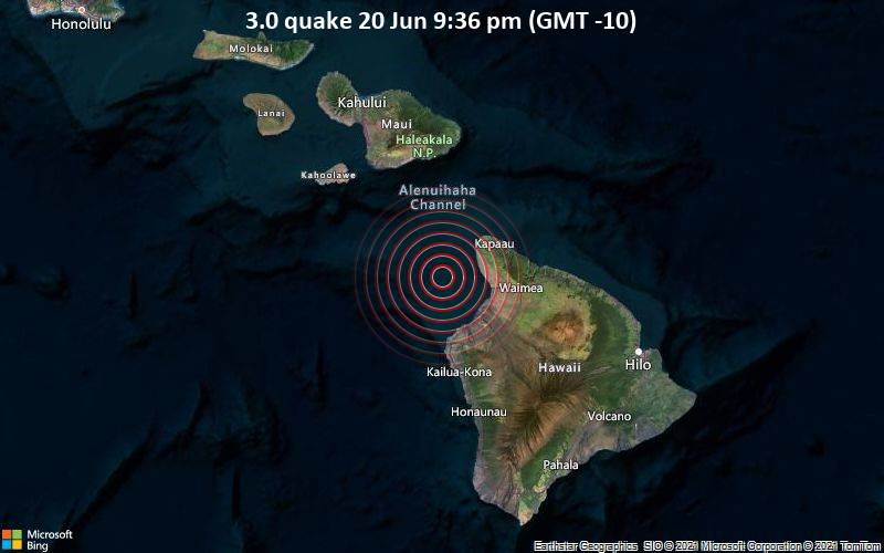 3.0 quake 20 Jun 9:36 pm (GMT -10)
