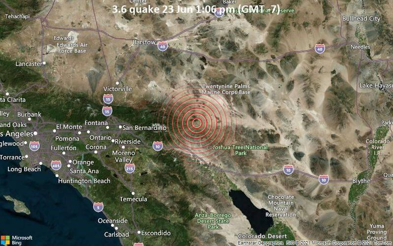 3.6 quake 23 Jun 1:06 pm (GMT -7)