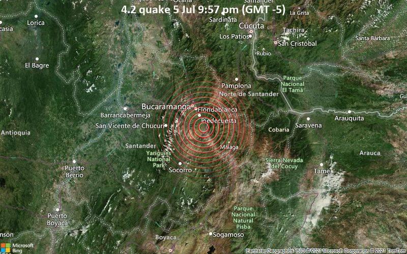 4.2 quake 5 Jul 9:57 pm (GMT -5)