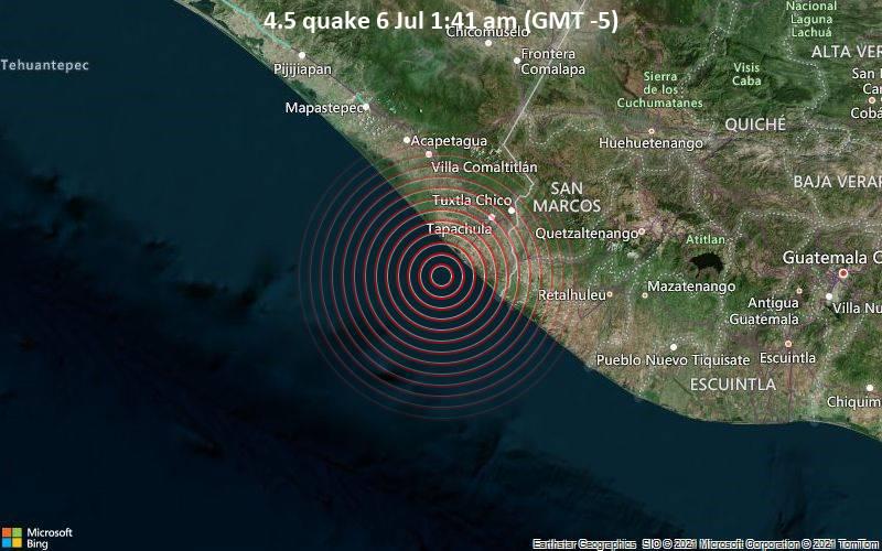4.5 quake 6 Jul 1:41 am (GMT -5)