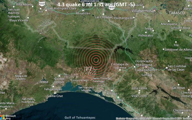 4.3 quake 6 Jul 1:51 am (GMT -5)