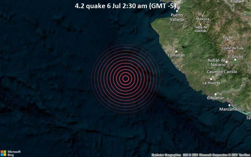 4.2 quake 6 Jul 2:30 am (GMT -5)