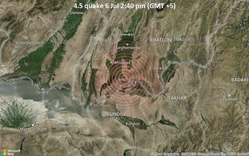 4.5 quake 6 Jul 2:40 pm (GMT +5)
