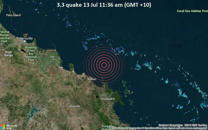 3.3 quake 13 Jul 11:36 am (GMT +10)