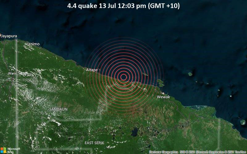 4.4 quake 13 Jul 12:03 pm (GMT +10)