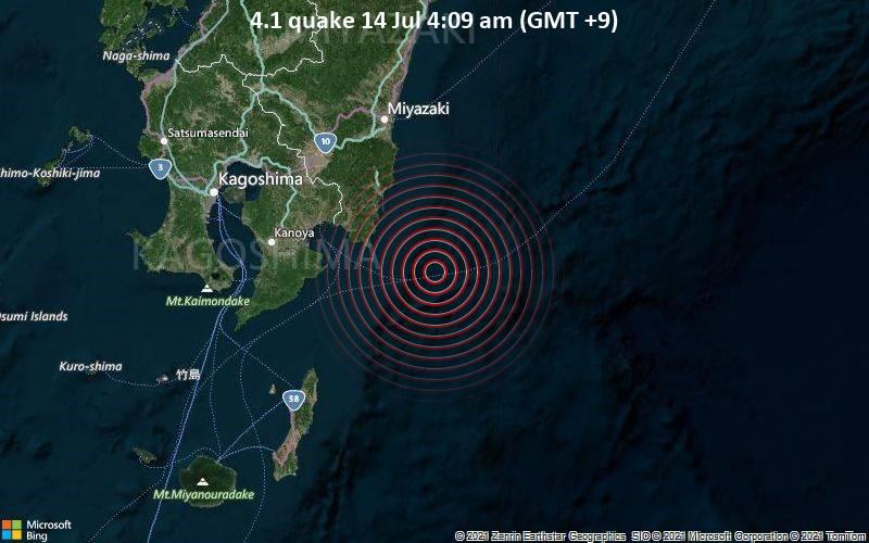 4.1 quake 14 Jul 4:09 am (GMT +9)
