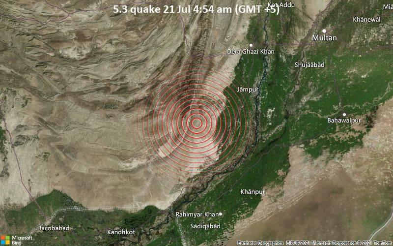 5.3 quake 21 Jul 4:54 am (GMT +5)