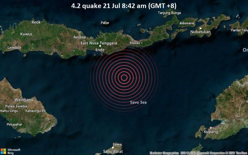 4.2 quake 21 Jul 8:42 am (GMT +8)