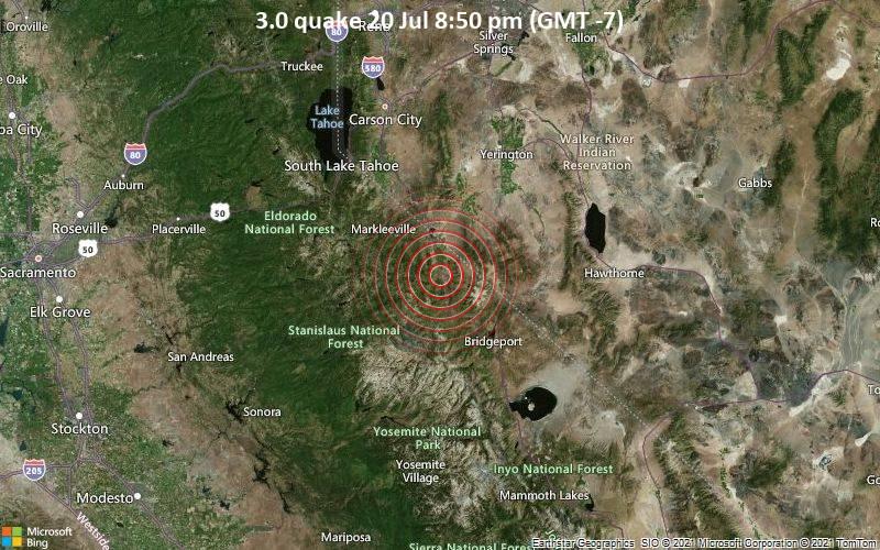3.0 quake 20 Jul 8:50 pm (GMT -7)