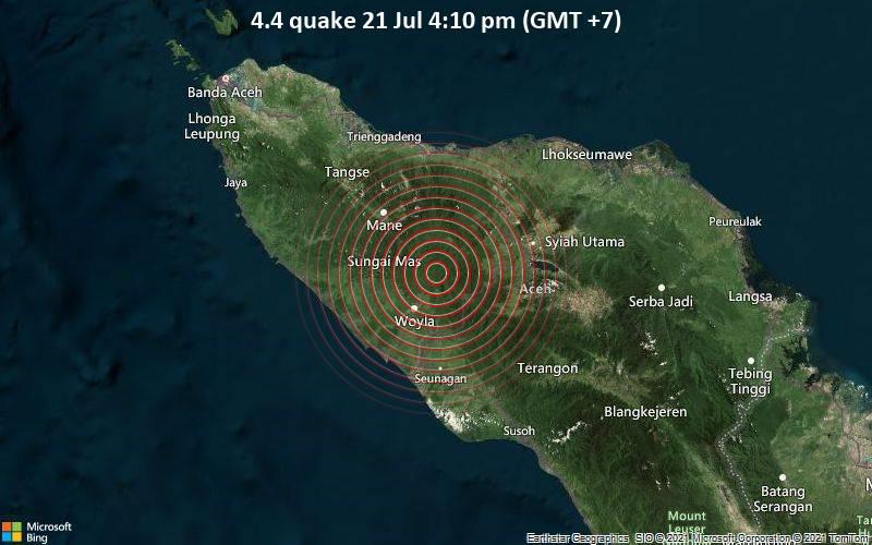 4.4 quake 21 Jul 4:10 pm (GMT +7)