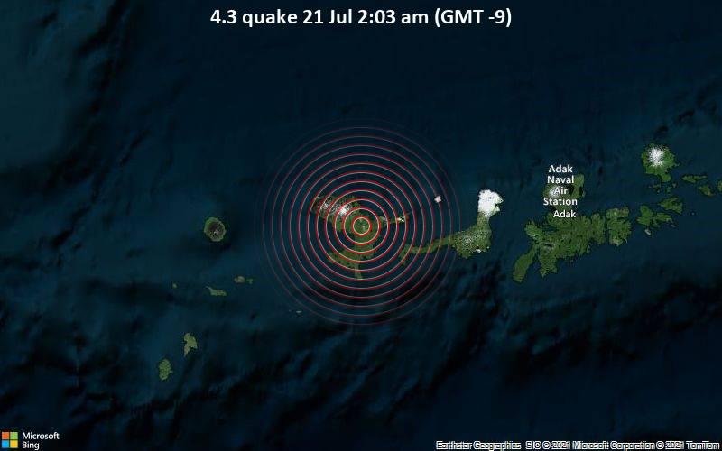 4.3 quake 21 Jul 2:03 am (GMT -9)