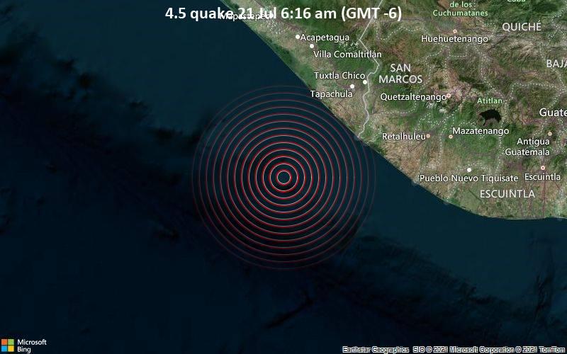 4.5 quake 21 Jul 6:16 am (GMT -6)