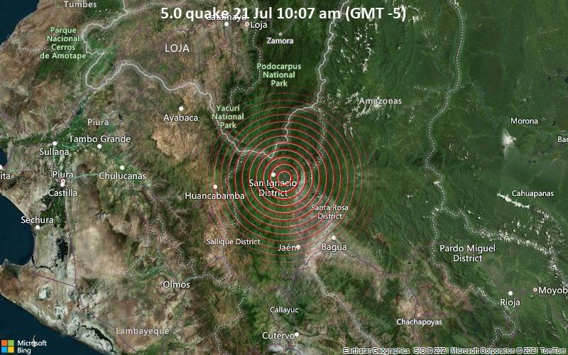 5.0 quake 21 Jul 10:07 am (GMT -5)