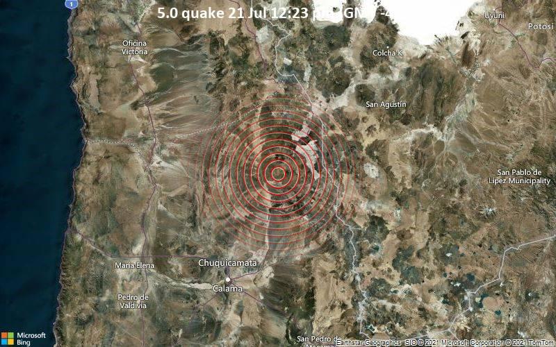 5.0 quake 21 Jul 12:23 pm (GMT -4)
