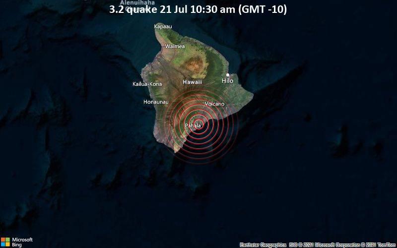 3.2 quake 21 Jul 10:30 am (GMT -10)