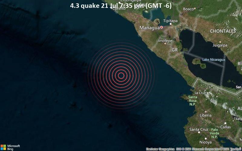 4.3 quake 21 Jul 7:35 pm (GMT -6)