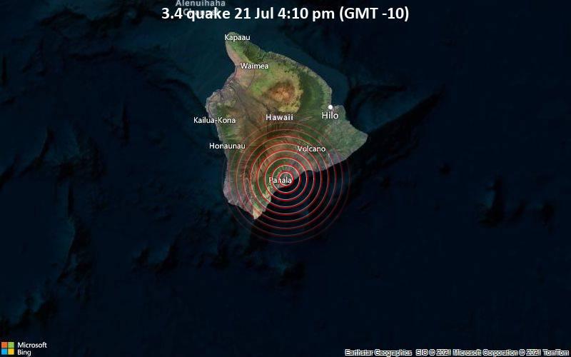 3.4 quake 21 Jul 4:10 pm (GMT -10)