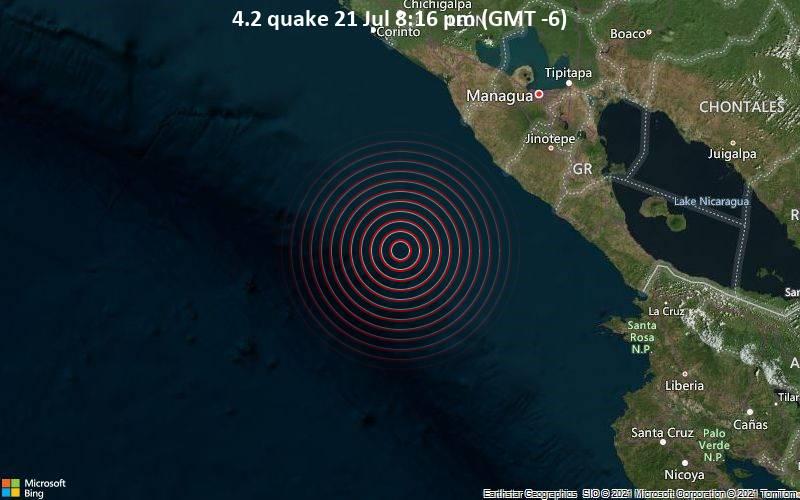 4.2 quake 21 Jul 8:16 pm (GMT -6)