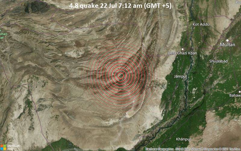 4.8 quake 22 Jul 7:12 am (GMT +5)