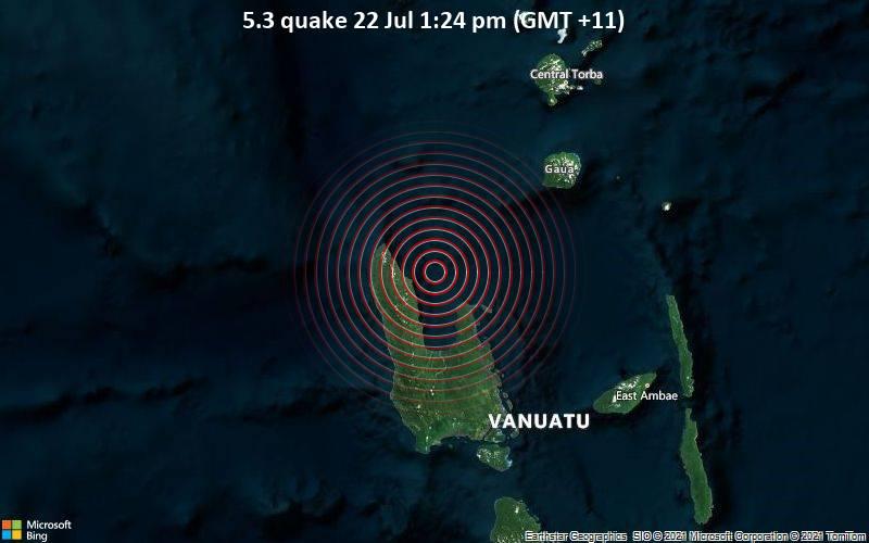 5.3 quake 22 Jul 1:24 pm (GMT +11)