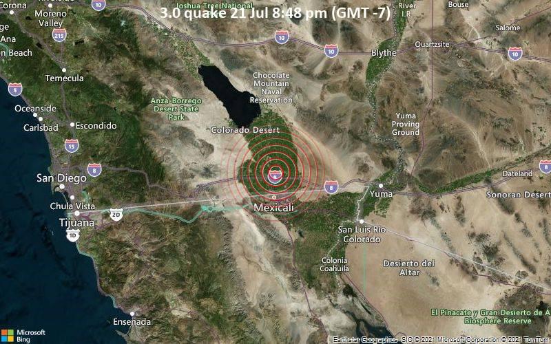 3.0 quake 21 Jul 8:48 pm (GMT -7)