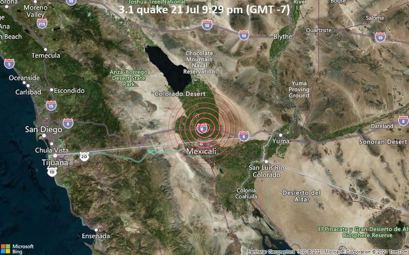 3.1 quake 21 Jul 9:29 pm (GMT -7)