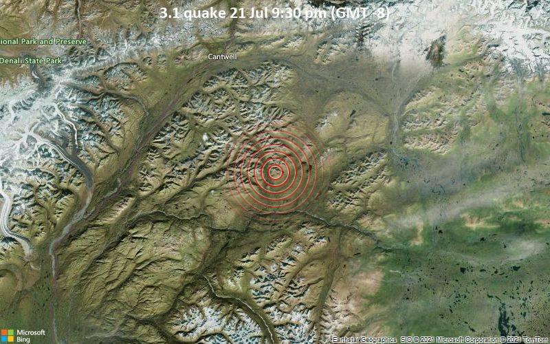 3.1 quake 21 Jul 9:30 pm (GMT -8)