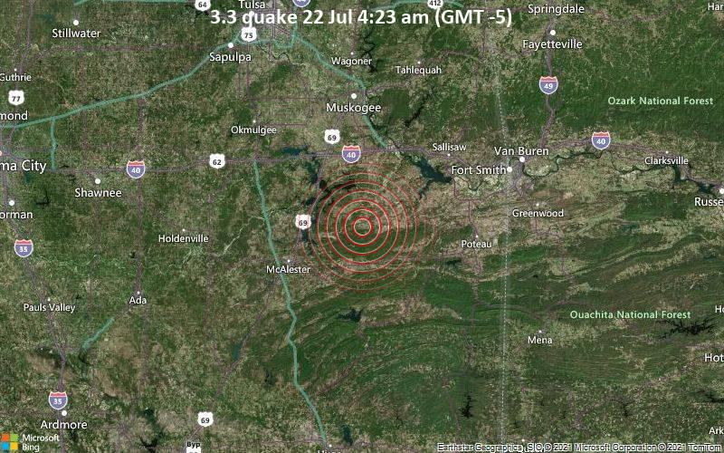 3.3 quake 22 Jul 4:23 am (GMT -5)