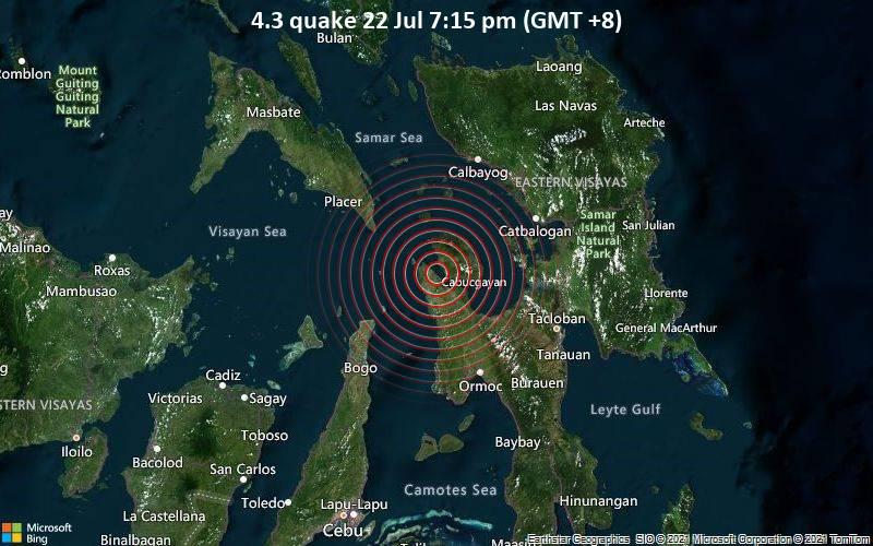 4.3 quake 22 Jul 7:15 pm (GMT +8)