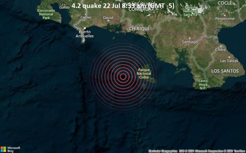 4.2 quake 22 Jul 8:33 am (GMT -5)