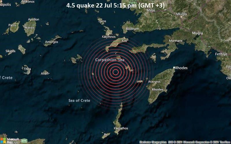 4.5 quake 22 Jul 5:15 pm (GMT +3)