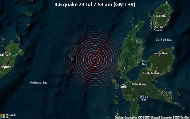 4.6 quake 23 Jul 7:53 am (GMT +9)