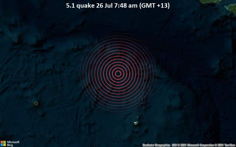 5.1 quake 26 Jul 7:48 am (GMT +13)