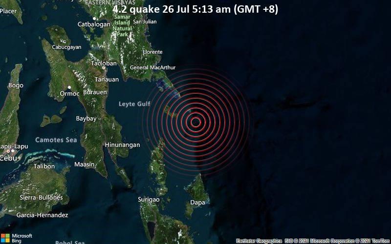 4.2 quake 26 Jul 5:13 am (GMT +8)
