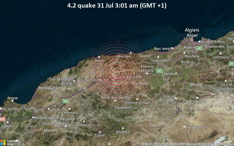 4.2 quake 31 Jul 3:01 am (GMT +1)