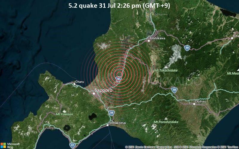 5.2 quake 31 Jul 2:26 pm (GMT +9)