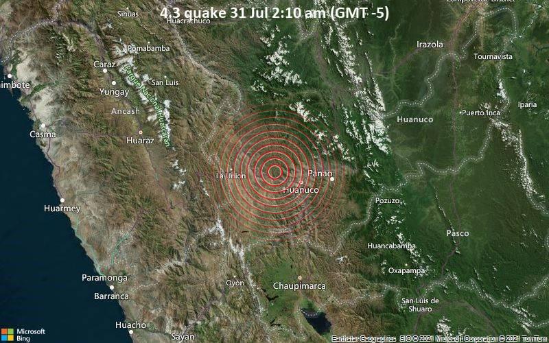 4.3 quake 31 Jul 2:10 am (GMT -5)