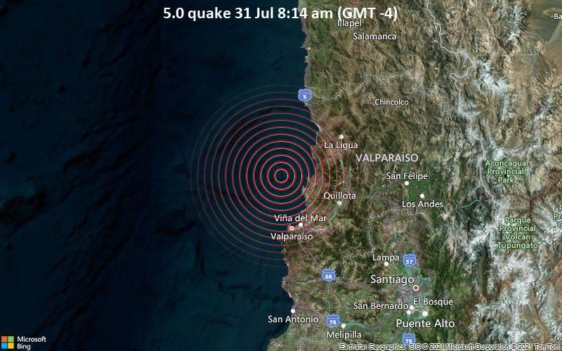 5.0 quake 31 Jul 8:14 am (GMT -4)