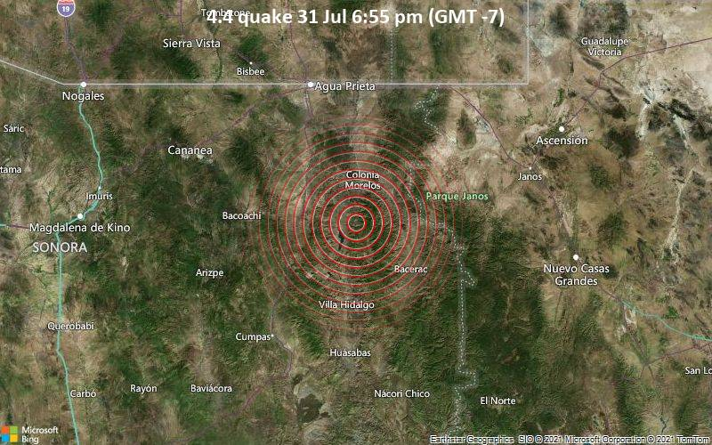 4.4 quake 31 Jul 6:55 pm (GMT -7)