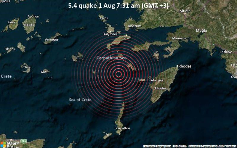5.4 quake 1 Aug 7:31 am (GMT +3)