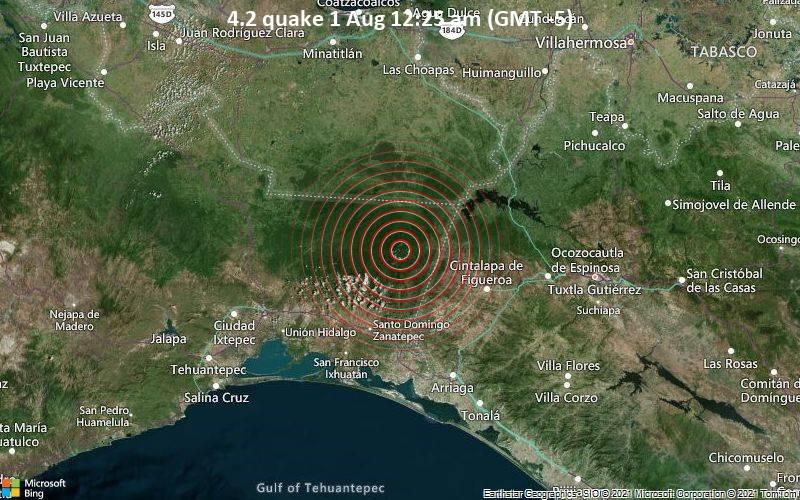 4.2 quake 1 Aug 12:25 am (GMT -5)