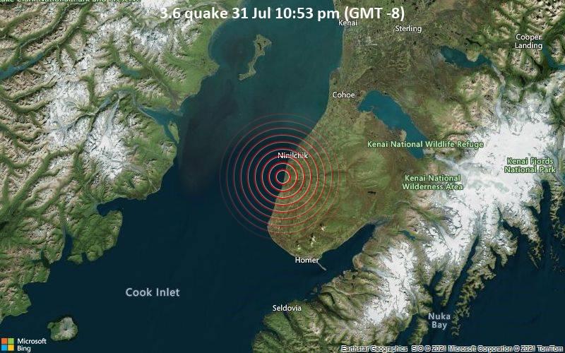 3.6 quake 31 Jul 10:53 pm (GMT -8)
